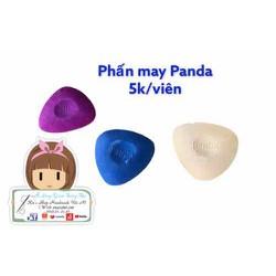 Hộp 3 viên Phấn may Panda màu hồng, màu xanh, màu trắng dùng vẽ lên vải khi may, phụ liệu may mặc