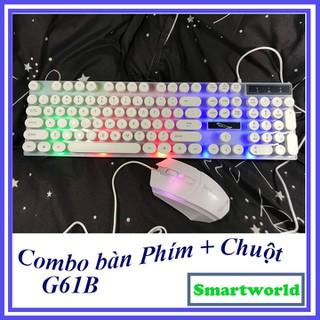 Combo bàn phím giả cơ và chuột có màu phím cực chất cho dân chơi game , dân văn phòng, giá rẻ bảo hành 6 tháng - G61B thumbnail