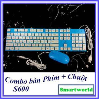 Combo bàn phím và chuột cực sịn dành cho dân văn phòng, thiết kế trẻ trung, gọn gàng xinh xắn, được bảo hành 6 tháng - S600 thumbnail
