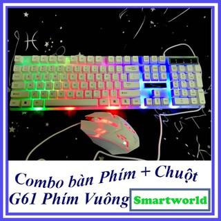 Combo bàn phím giả cơ và chuột có màu phím cực chất cho dân chơi game , dân văn phòng, giá rẻ bảo hành 6 tháng - G61 thumbnail