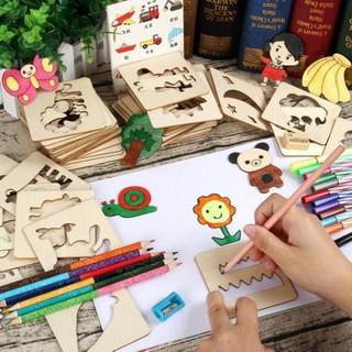 Bộ Đồ Chơi Khuôn Hình Gỗ Tập Vẽ Cho Bé Thỏa Sức Sáng Tạo Thông Minh - khuôn đồ chơi thumbnail
