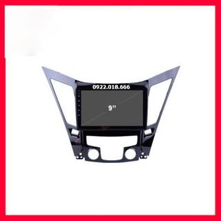 Mặt dưỡng màn hình Hyundai sonata 2010 - 2014 lắp màn 9 inch - pt134 thumbnail