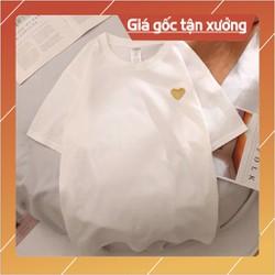 (Thun Lỡ) HighQuality Áo Thun Tay Lỡ Trái tim vàng Cotton 100 Siêu chất Siêu đẹp mà giá quá hời