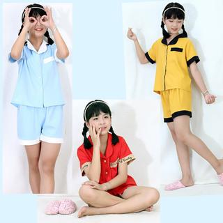 Bộ ngủ, đồ mặc nhà phối viền cho BÉ GÁI và BÉ TRAI vải lụa cao cấp 0230 - 0230 thumbnail