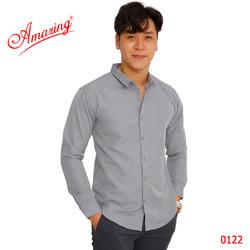 Amazing, sơ mi nam body, style Hàn Quốc năng động, dáng áo slim fit ôm vừa, chuẩn form cao cấp, big size tới 95kg