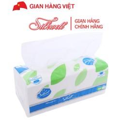 Khăn giấy lụa Silkwell cao cấp 2 lớp gói 250 tờ 20x18.5cm