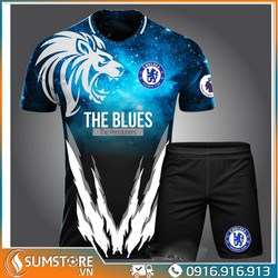 Bộ quần áo bóng đá Chelsea Xanh 10 - Đồ đá banh 2021