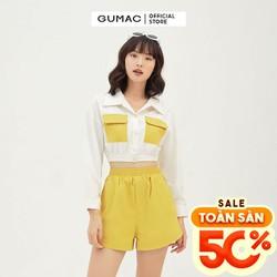 Quần short nữ lưng thun GUMAC QB3126