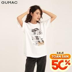 Áo thun nữ tay lỡ form rộng - Áo thun nữ in cô gái GUMAC ATB1160