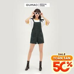 Quần yếm nữ lật lai có túi form rộng GUMAC QB3128