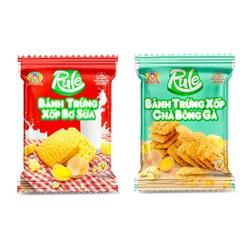 Rule _ Túi 500g Bánh Trứng Xốp BƠ SỮA và CHÀ BÔNG GÀ, Tan ngay trong miệng, theo tiêu chuẩn Ban Quản Lý AnToàn Thực Phẩm