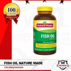 Dầu cá Fish Oil 1200mg 360mg  Omega- 3 hộp 200viên của Nature Made  - Hỗ trợ tim mạch và tăng cường thị lực