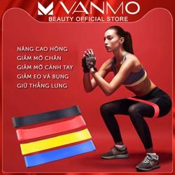 Dây Kháng Lực Mini Band Đa Năng Hỗ Trợ Tập Yoga, Tập Mông, Tập Chân, Thể Dục, Thể Hình.