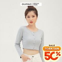 Áo croptop nữ tay dài form ôm GUMAC ATB3106