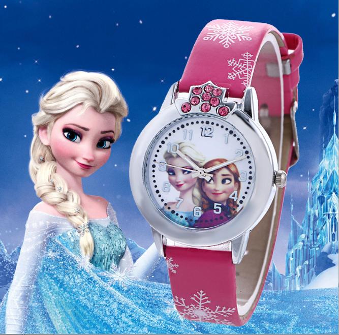 [CÓ VIDEO] Đồng hồ trẻ em dây da công chúa Elsa và Anna, tặng hộp và pin dự phòng, bảo hành 2 năm - ELSA 6