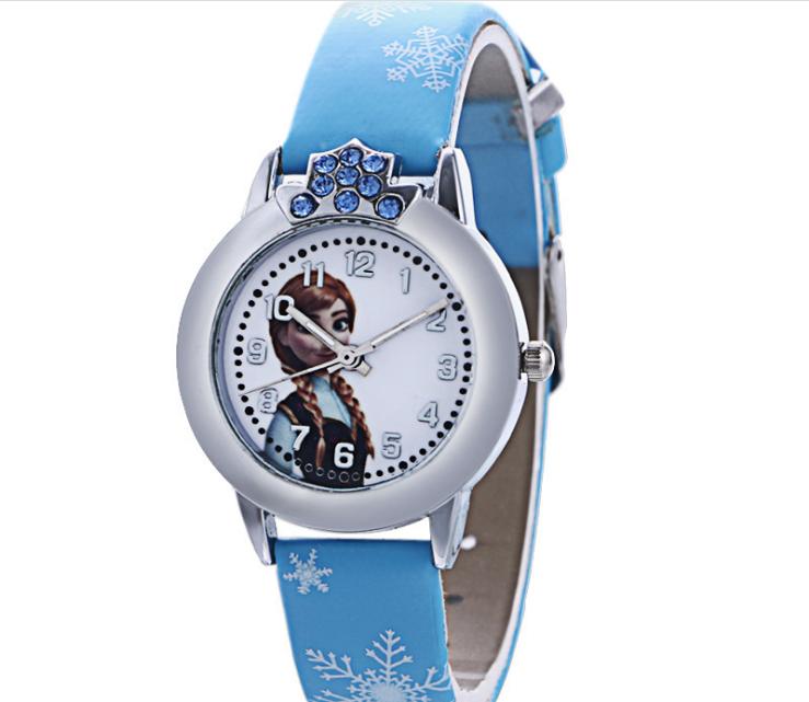 [CÓ VIDEO] Đồng hồ trẻ em dây da công chúa Elsa và Anna, tặng hộp và pin dự phòng, bảo hành 2 năm - ELSA 10