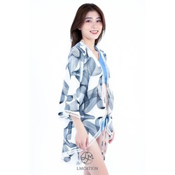 Áo khoác Kimono LMcation Mara - Sóng Trắng