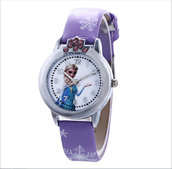 [CÓ VIDEO] Đồng hồ trẻ em dây da công chúa Elsa và Anna, tặng hộp và pin dự phòng, bảo hành 2 năm - ELSA 5
