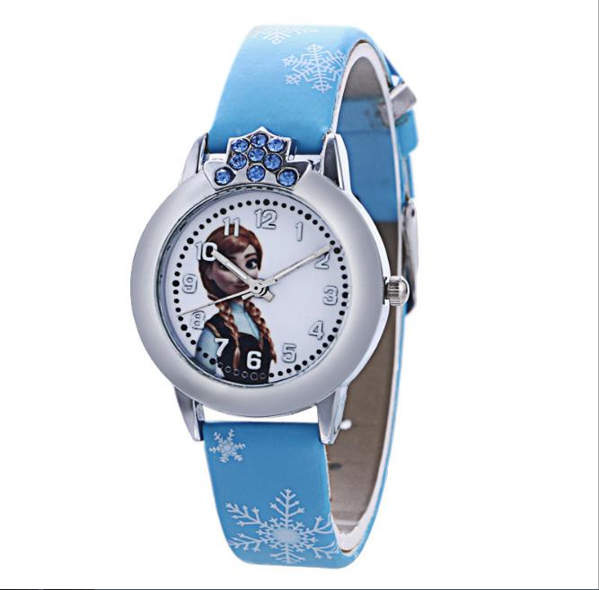 [CÓ VIDEO] Đồng hồ trẻ em dây da công chúa Elsa và Anna, tặng hộp và pin dự phòng, bảo hành 2 năm - ELSA 4
