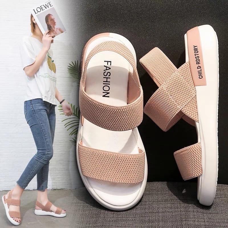Giày Sandal Nữ Đẹp Học Sinh Mẫu Mới Phong Cách Hàn Quốc - SD-QC1 2