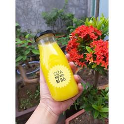 Chai thủy tinh đựng sữa hạt , nước trái cây 330ml - 8 chai