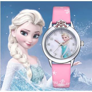 [CÓ VIDEO] Đồng hồ trẻ em dây da công chúa Elsa và Anna, tặng hộp và pin dự phòng, bảo hành 2 năm - ELSA thumbnail