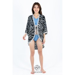 Áo Khoác Kimono LMcation Mara - Sóng Đen