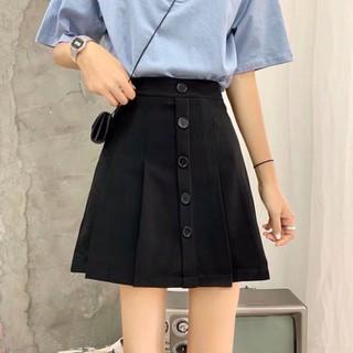 [Ảnh thật] Chân váy ngắn, chân váy chữ A 5 khuy có quần chống lộ siêu hot_Xem hàng trước khi thanh toán - Chan_Vay_5khuy thumbnail