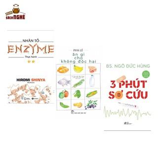 Combo Sách Chăm Sóc Cơ Thể 3 Phút Sơ Cứu + Ăn Gì Cho Không Độc Hại + Nhân Tố Enzyme - Thực Hành (Tái Bản) - THAIHA602 thumbnail