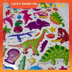 sticker dán 3d khủng long cực đáng yêu dùng làm đồ chơi cho bé, sticker dán điện thoai, dán laptop trang trí bất kỳ đồ vật
