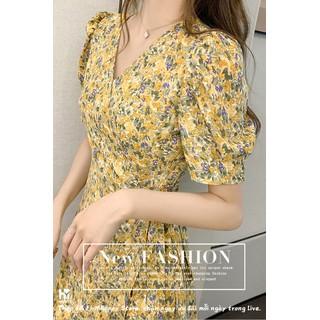 Váy đầm nữ, váy hè nữ chít eo thắt nơ, họa tiết hoa mùa hè, trẻ trung thoải mái, hàng thiết kế cao cấp, đủ size - SP 38 thumbnail