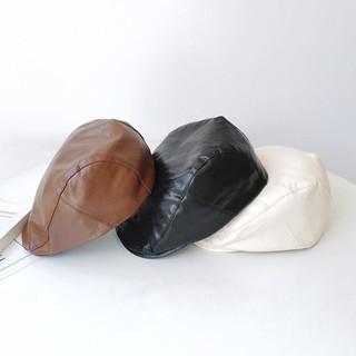 Mũ beret da màu trăng thời trang vintage - 15236473573 thumbnail