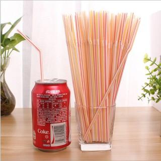 Bịch 100 ống hút nhựa nhiều màu dùng 1 lần - Sku3382 thumbnail