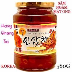 SÂM TƯƠI NGÂM MẬT ONG HÀN QUỐC HỦ 580G ( DATE 2022 ) HONEY GINSENG TEA NHẬP KOREA