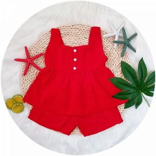 Đồ bộ xuất Hàn bé gái 6-14kg mẫu mới, đồ bé gái, đồ mặc nhà, váy bé gái - e11r thumbnail