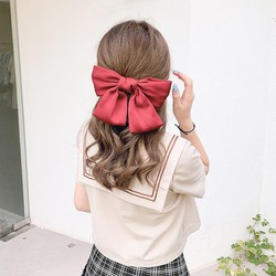 Top mẫu kẹp bán chạy – Kẹp Tóc nơ to Hàn Quốc đẹp BHKT2 – Trang sức Bé Heo