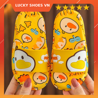 Giày dép trẻ em đẹp, dép cho bé gái và dép cho bé trai hình chú vịt ngộ nghĩnh LUCKY SHOES VN - H000004V - H000004V thumbnail