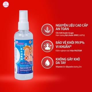 Gel rửa tay khô AVATAR - Xịt kháng khuẩn - Dạng xịt - 75% CỒN (100ml) - RUATAY-100ml thumbnail