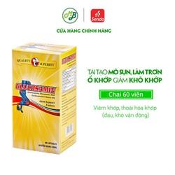 Viên uống hỗ trợ xương khớp, viêm khớp và chống thoái hoá khớp - Glucosamin - MediBeauty - Robinson Pharma USA - Chai 60 viên