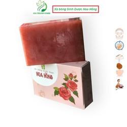 Combo 2 Xà bông Sinh Dược Hoa Hồng [tặng 1 túi lưới tạo bọt 3.5k] Xà phòng thiên nhiên handmade ROSE SOAP , giúp dưỡng da và sáng da từ chiết xuất bột hoa hồng
