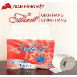 12 cuộn giấy vệ sinh cao cấp Silkwell 2 lớp Cam