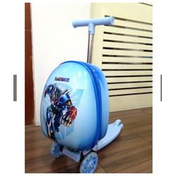 Vali kéo kiêm xe trượt Scooter Trẻ em màu xanh và màu hồng chỉ còn 2 cái-SKU-VALI-va