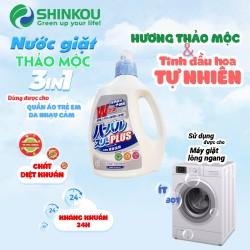 Nước giặt kháng khuẩn 24h SHINKOU (Sản phẩm chất lượng Nhật Bản) - ÍT BỌT, mềm mại da tay - Dùng được cho quần áo em bé, trẻ nhỏ