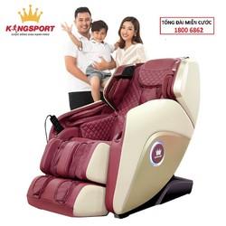 [HOT 2021] Ghế massage toàn thân Kingsport G50 - Nhiệt hồng ngoại, điều khiển giọng nói, chế độ không trọng lực