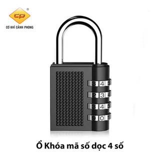 Ổ khóa mã số dọc inox CJSJ chất liệu hợp kim inox chống gỉ, mã số khóa gồm 4 chữ số cao cấp Cảnh Phong - OKHOA-MASODOC thumbnail