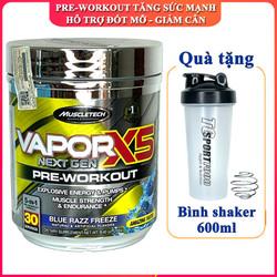 [TẶNG BÌNH] Pre-Workout tăng sức mạnh Vapor X5 của MUSCLETECH hỗ trợ tăng sức bền, sức mạnh, đốt mỡ giảm cân