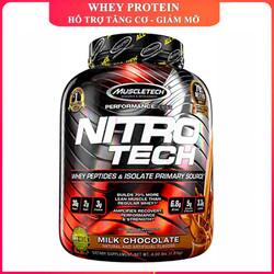 Sữa tăng cơ cực mạnh Nitro Tech của MUSCLETECH hương Chocolate hộp 40 lần dùng hỗ trợ tăng cơ giảm mỡ, tăng sức bền sức mạnh đốt mỡ giảm cân