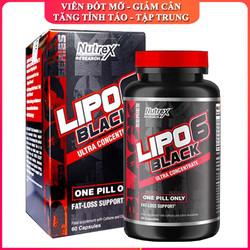 Viên đốt mỡ giảm cân cao cấp Lipo 6 Black hộp 60 hỗ trợ đốt mỡ, giảm cân nhanh chóng, tăng tỉnh táo, tập trung