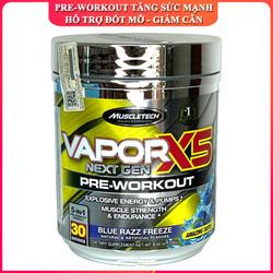 Pre-Workout tăng sức mạnh Vapor X5 của MUSCLETECH hỗ trợ tăng sức bền, sức mạnh, đốt mỡ giảm cân