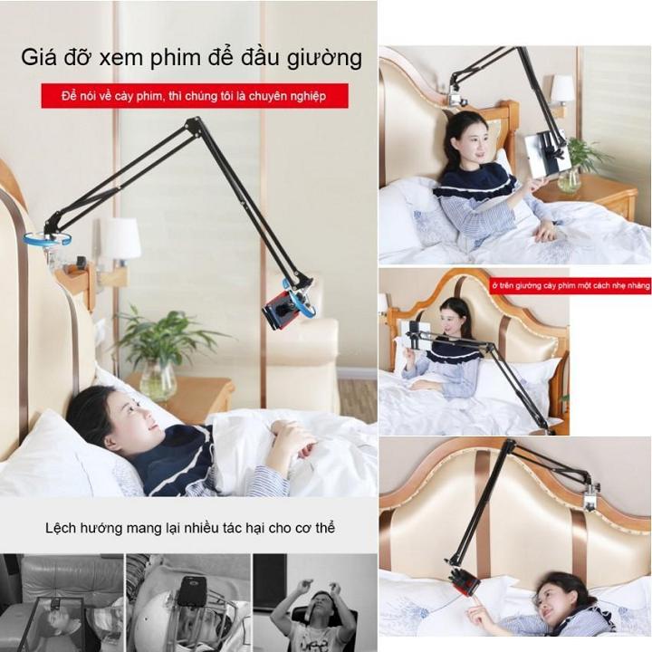 Hình ảnh Giá Đỡ Kẹp Điện Thoại, Máy Tính Bảng Ipad Có Chân Kẹp Đầu Giường, Cạnh Bàn